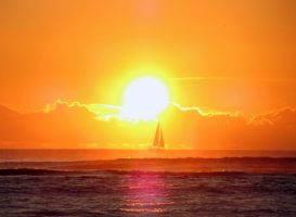 hawaiian sunset sailing by olgakofti