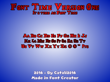 Font Time (v1) by Catali2016