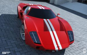 GT concept Red by wizzoo7