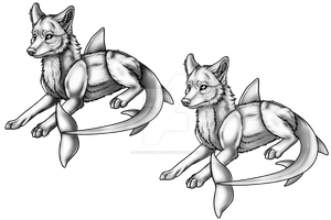 :Premade: Shark Dog Pose .Lay. by ScarlettFeather