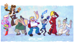 My fav characters ~ Rock on!! by Pink-Myotis