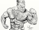 Bodybuilder Pencil sketch by IanMaiguaPictures