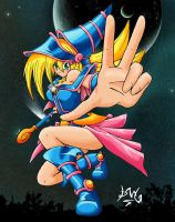 Dark  Magician Girl Coloured by Trakker