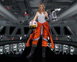 Jennifer Lawrence as an Alliance Pilot by hk-1440