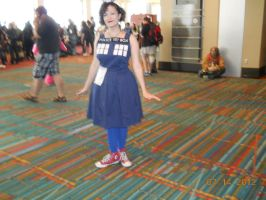 Cute Tardis Dress! by PsychoBabble192