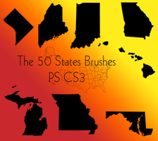 US States Brushes by ADaniel7508
