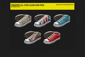 Converse All Star Clean Icons by pedroamorim