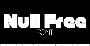 +Font 003: Null Free by PottericaLewis