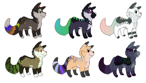 Cheap Canine Adopts - ONE LEFT - PRICE LOWERED - by TinyWolfy