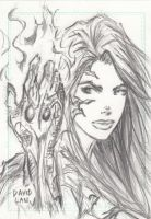 Witchblade Sketch Card by DavidLau82