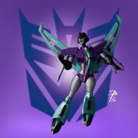 Transformers - Animated Slipstream by synth-brave