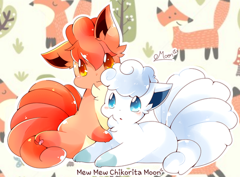 Foxes by ChikoritaMoon