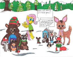 Fluttershy's Very Merry Woodland Critter Christmas by Daniel-SG