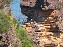 Walking trails in Katoomba by Seralunai