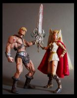 he-man and she-ra after battle by nightwing1975