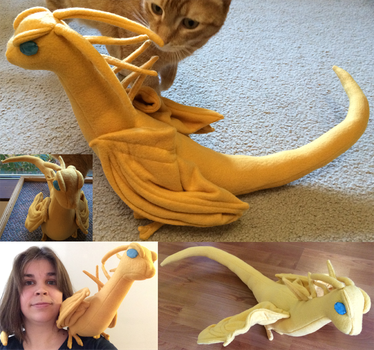 Special Request - Fire Lizard Plush by IchibanVictory