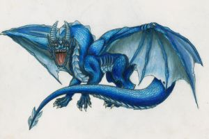 The Blue Dragon by MindlessKitteh