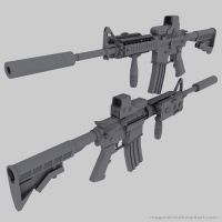 M4 Carbine by MeganeRid