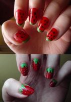 watermelons and strawberries by matali