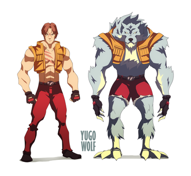 Character Design Blood Roar - Yugo the Wolf by mello-edu