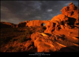 Cloudy Sunset at Moab by staind80
