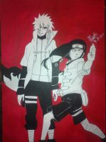 Neji and Minato - Happy Birthday Nico! by montonico