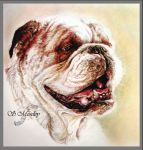 Dog Memorial Commish by SuzanneMoseley