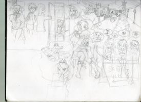 Christmas sketch (stage 2) by Sleepy17