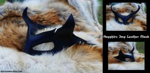 Sapphire Imp Leather Mask by Epic-Leather
