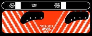 NEO GEO 4 Slot MVS Control Panel Overlay by FNHot