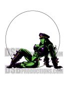 SHE-HULK LARGE AND IN CHARGE by Dwid