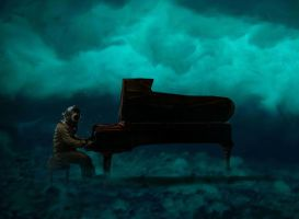 Diver playing piano by ACDeCa