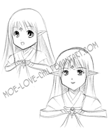 OC Sketch: Kiriko by Moe-love-chu