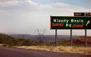 Bloody Zombie Road by RainGirl2009