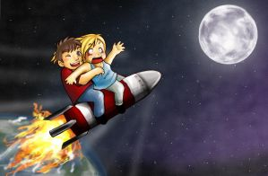 A Trip To The Moon by CrazyXanimal