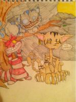 Three Cheshire cats by WhatTheFlup