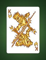 King Of hearts aka King Of Fire Drawing by LineDetail