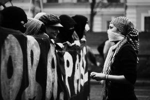 Anarchist demostration by mariashooter