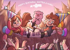 HBD Dipper and Mabel 2016 by wernwern