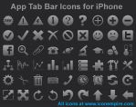 App Tab Bar Icons for iPhone by Iconoman