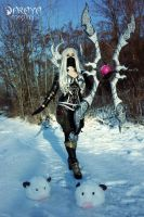 Nightblade Irelia and Poro by Daraya-crafts