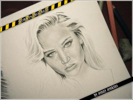 Jennifer Lawrence 2 - WIP by thewholehorizon