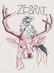 Zebrat: Raven and Stag Illustration by shaynahall