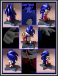 Chibi Sonic Scuplture by Blue-Sonikku