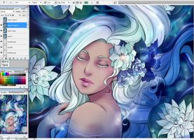 Water lily wip by Kimir-Ra