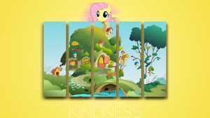 Fluttershy 'Minimal' Kindness Wallpaper by BlueDragonHans