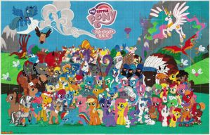 Full MLP poster bead Mosaic by rphb