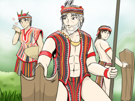 Philippines Igorot - Big family of Luzon by VachalenXEON