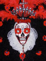 SANTA MUERTE/ RED- Detail by zoonart