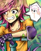 Human Scootaloo by BuckingAwesomeArt